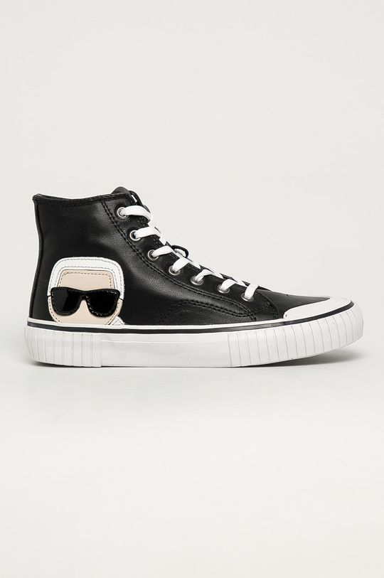 černá Karl Lagerfeld - Kožené kecky Dámský
