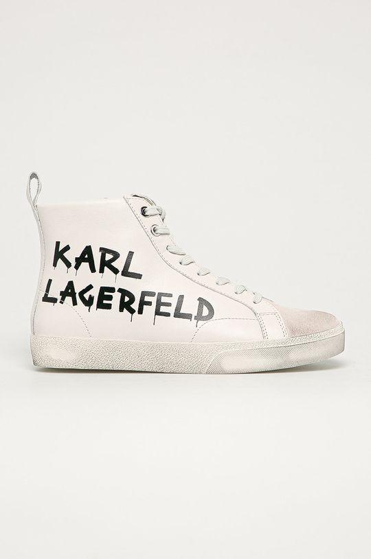 белый Karl Lagerfeld - Кожаные Кроссовки Женский