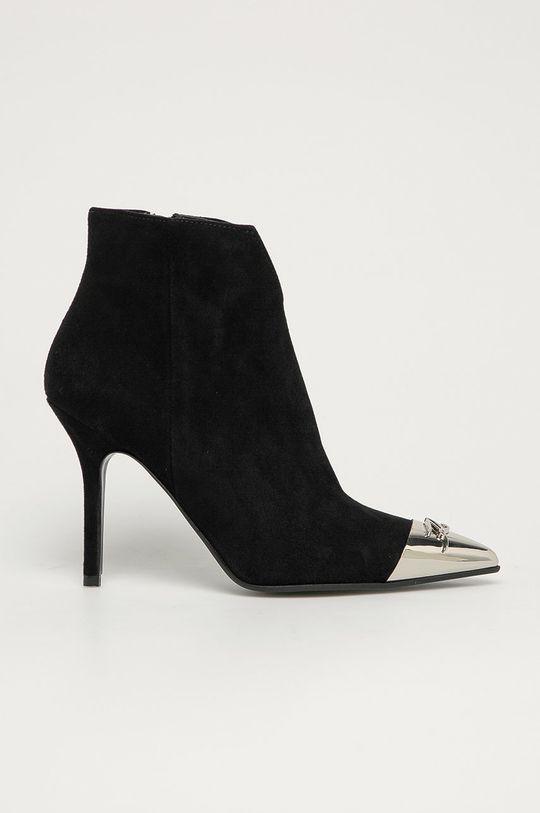 чёрный Karl Lagerfeld - Кожаные полусапоги Женский