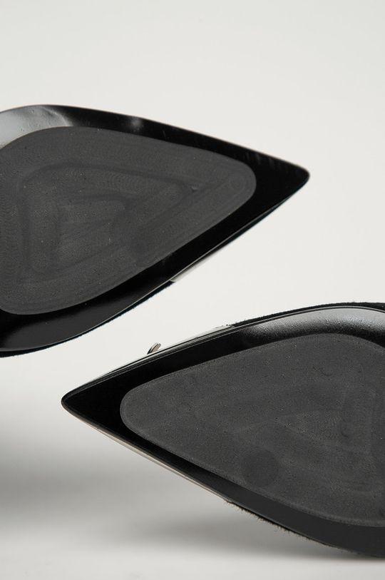 чёрный Karl Lagerfeld - Кожаные полусапоги