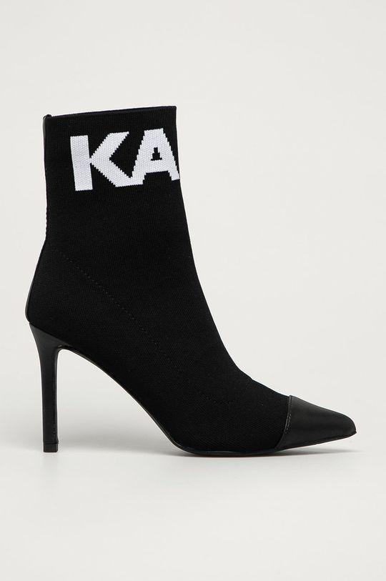 чёрный Karl Lagerfeld - Полусапоги Женский