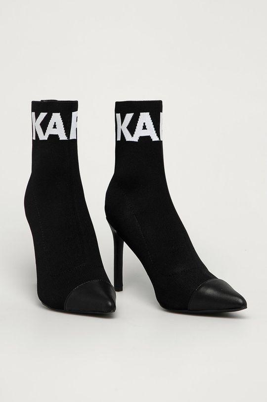 Karl Lagerfeld - Полусапоги чёрный