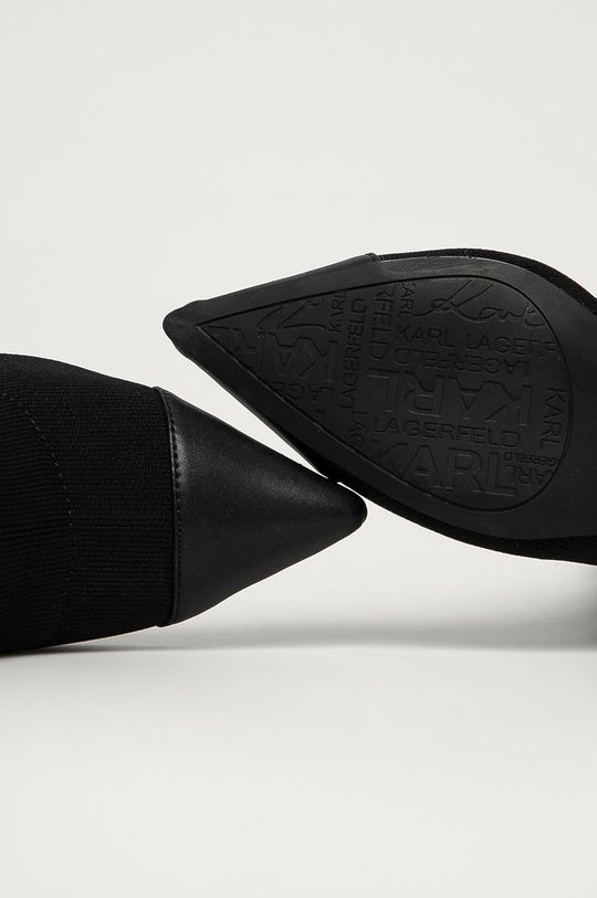 чёрный Karl Lagerfeld - Полусапоги