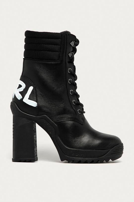negru Karl Lagerfeld - Cizme de piele De femei