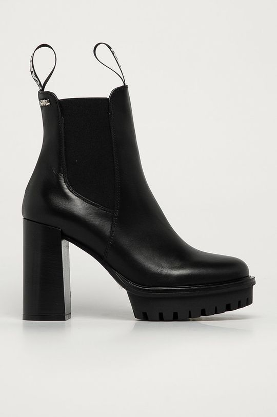 čierna Karl Lagerfeld - Kožené topánky Chelsea Dámsky
