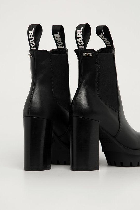 Karl Lagerfeld - Kožené topánky Chelsea  Zvršok: Prírodná koža Vnútro: Syntetická látka, Prírodná koža Podrážka: Syntetická látka
