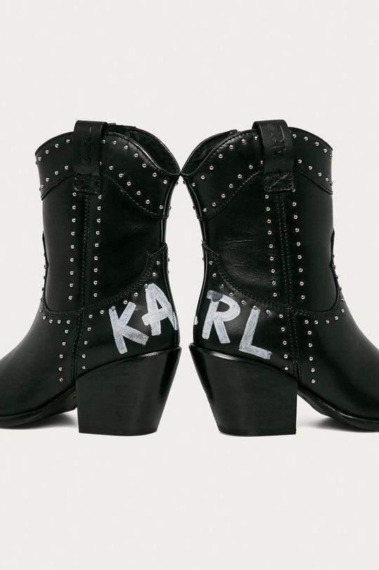 Karl Lagerfeld - Westernové kožené boty  Svršek: Přírodní kůže Vnitřek: Přírodní kůže Podrážka: Přírodní kůže