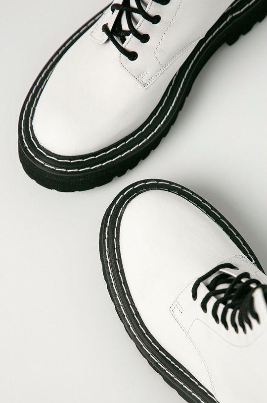 alb Karl Lagerfeld - Bocanci de piele