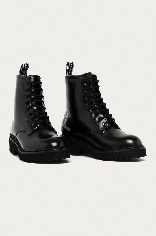Karl Lagerfeld - Workery skórzane czarny