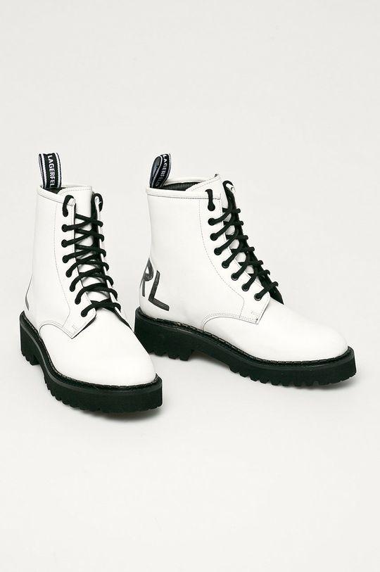 Karl Lagerfeld - Workery skórzane biały