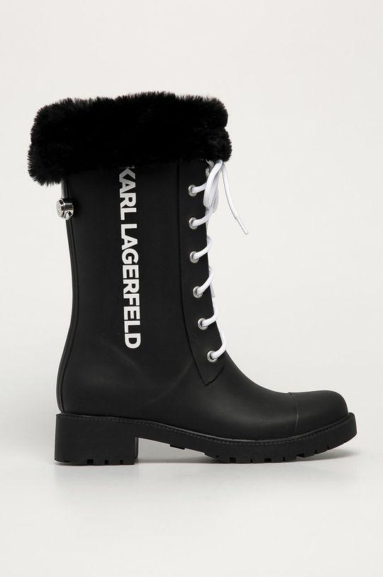 czarny Karl Lagerfeld - Kalosze Damski