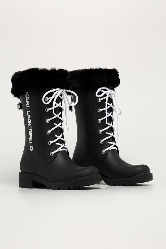 Karl Lagerfeld - Kalosze czarny
