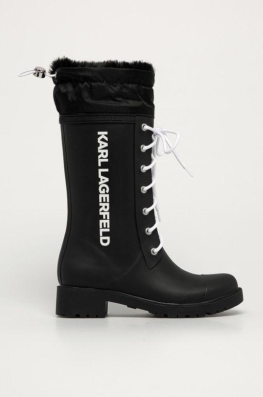 czarny Karl Lagerfeld - Kalosze