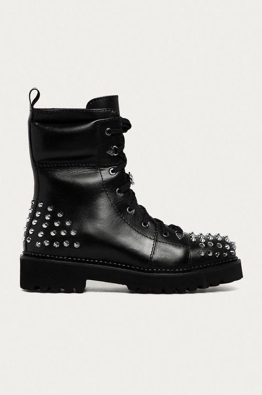 černá Karl Lagerfeld - Kožené workery Dámský
