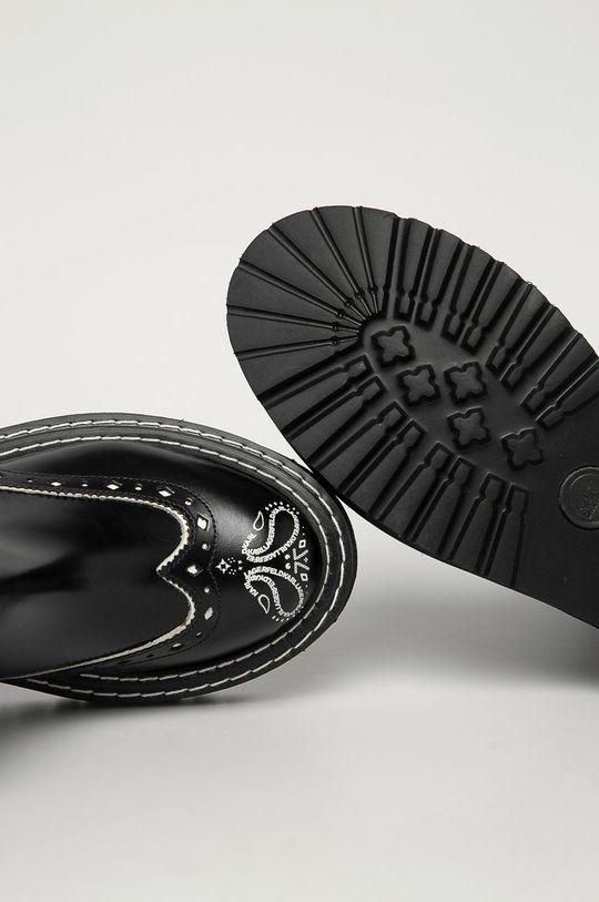 czarny Karl Lagerfeld - Sztyblety skórzane