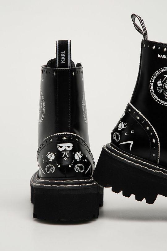 Karl Lagerfeld - Workery skórzane Cholewka: Skóra naturalna, Wnętrze: Skóra naturalna, Podeszwa: Materiał syntetyczny