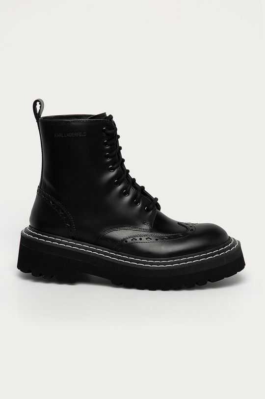czarny Karl Lagerfeld - Workery skórzane Damski