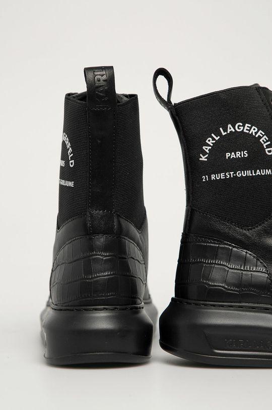 Karl Lagerfeld - Botki skórzane Cholewka: Skóra naturalna, Wnętrze: Materiał syntetyczny, Skóra naturalna, Podeszwa: Materiał syntetyczny