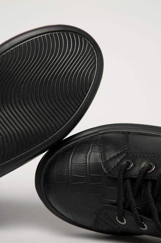 czarny Karl Lagerfeld - Botki skórzane