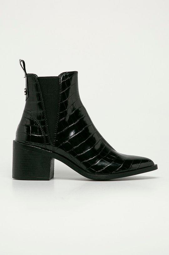 černá Steve Madden - Kožené kotníkové boty Audience Dámský