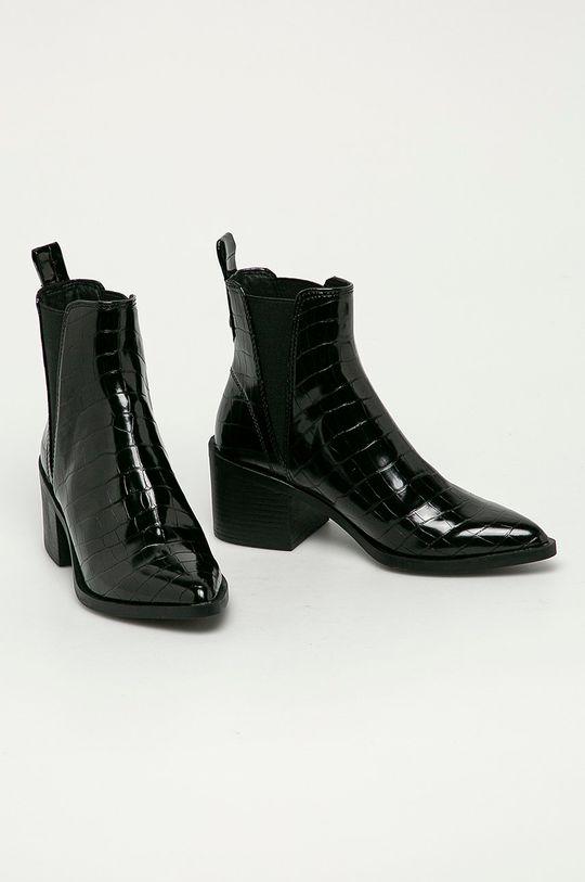 Steve Madden - Kožené kotníkové boty Audience černá