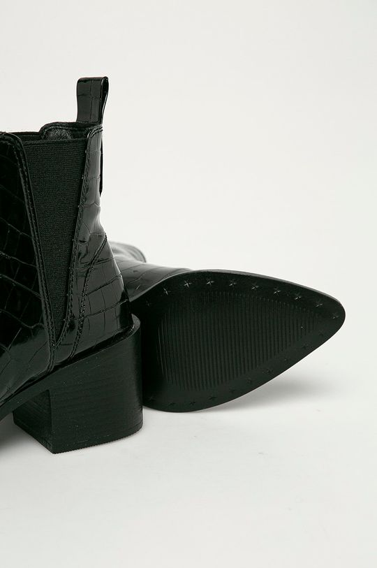 černá Steve Madden - Kožené kotníkové boty Audience