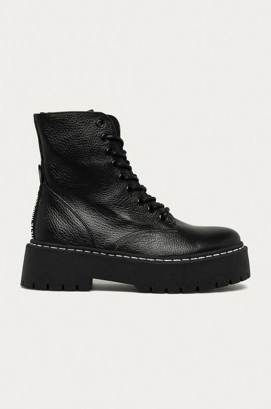 чорний Steve Madden - Шкіряні черевики Жіночий