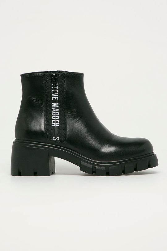 čierna Steve Madden - Kožené členkové topánky Gros Dámsky