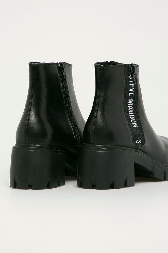 Steve Madden - Kožené členkové topánky Gros  Zvršok: Prírodná koža Vnútro: Syntetická látka, Textil Podrážka: Syntetická látka