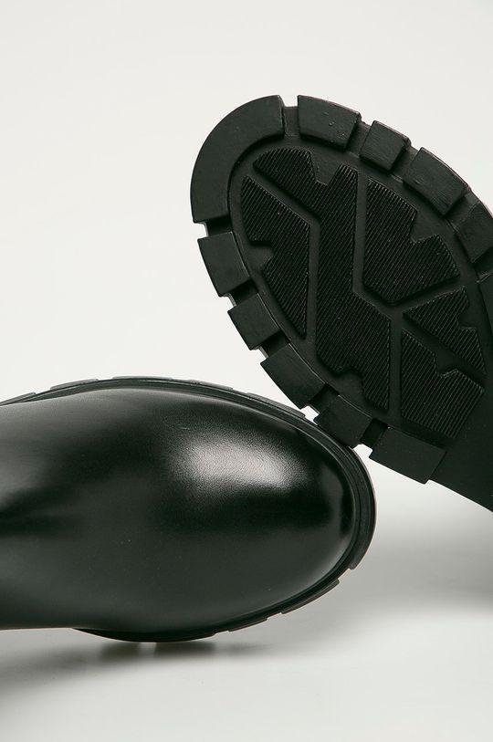 čierna Steve Madden - Kožené členkové topánky Gros