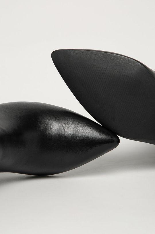 negru Steve Madden - Cizme de piele Nadalie
