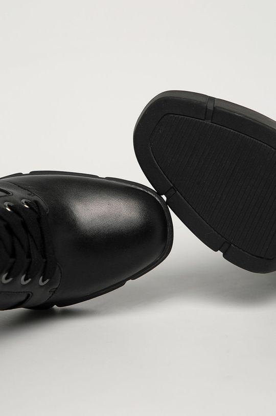 čierna Steve Madden - Kožené členkové topánky Region