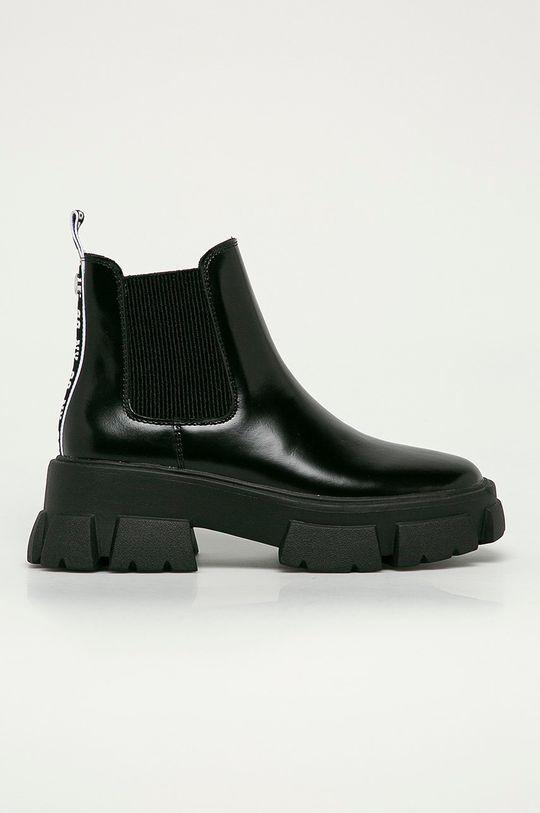 černá Steve Madden - Kožené kotníkové boty Tusk Dámský