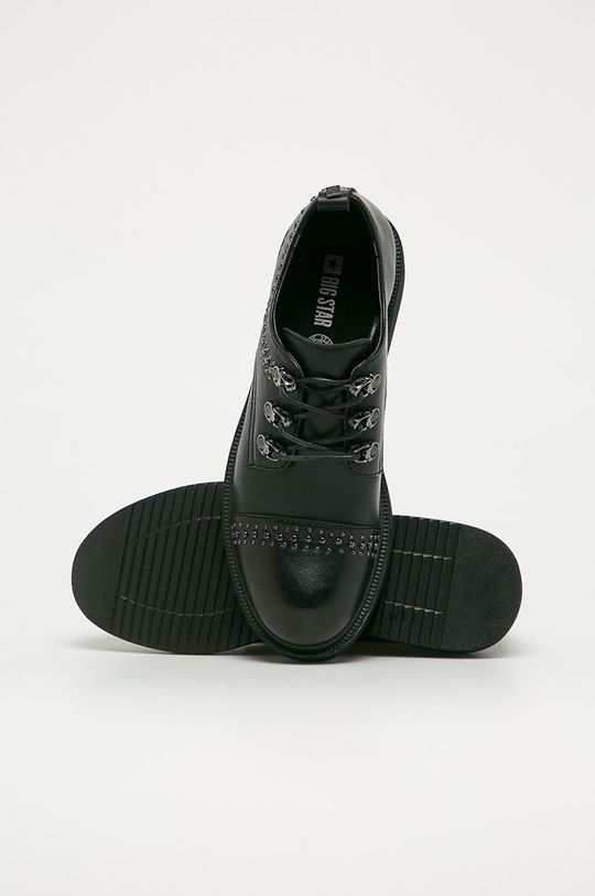 negru Big Star - Pantofi de piele