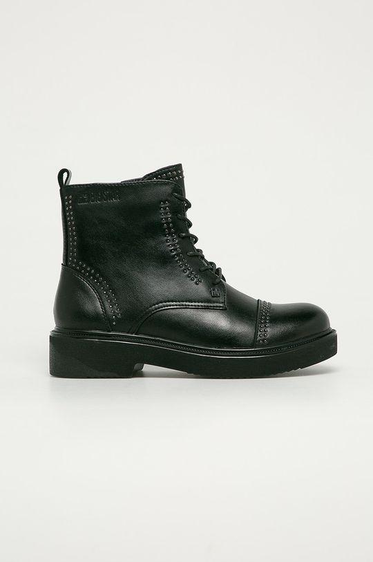 černá Big Star - Kožené kotníkové boty Dámský