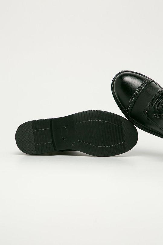 černá Big Star - Kožené kotníkové boty