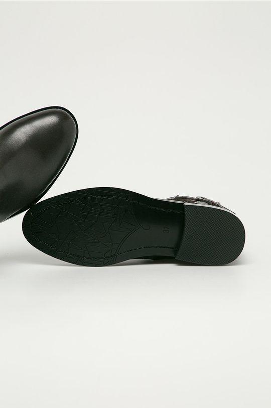 hnědá Big Star - Kožené kotníkové boty