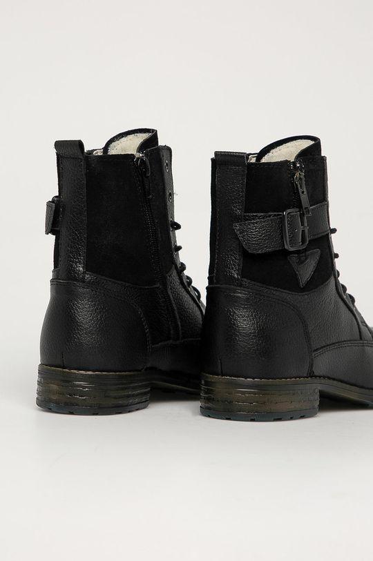 Mustang - Kožené kotníkové boty  Svršek: Přírodní kůže Vnitřek: Textilní materiál Podrážka: Umělá hmota