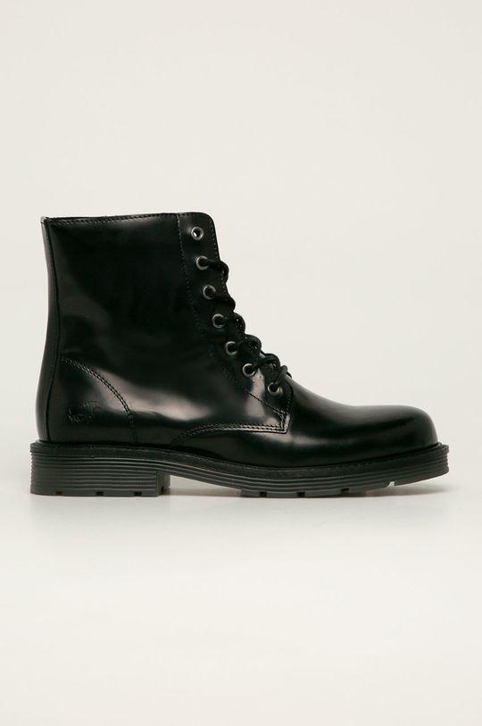 černá Mustang - Kožené kotníkové boty Dámský