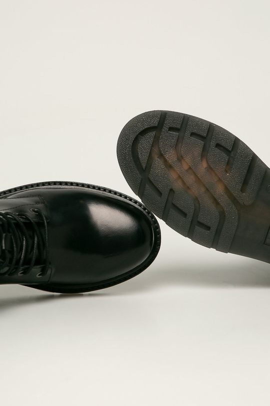 černá Mustang - Kožené kotníkové boty