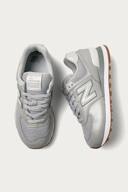 sivá New Balance - Topánky WL574PMA