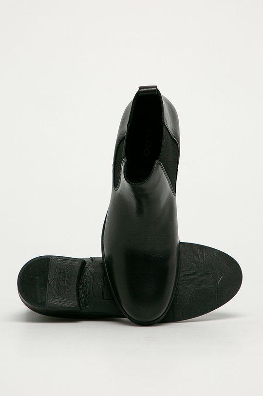 negru Aldo - Ghete Chelsea de piele Wicoeni