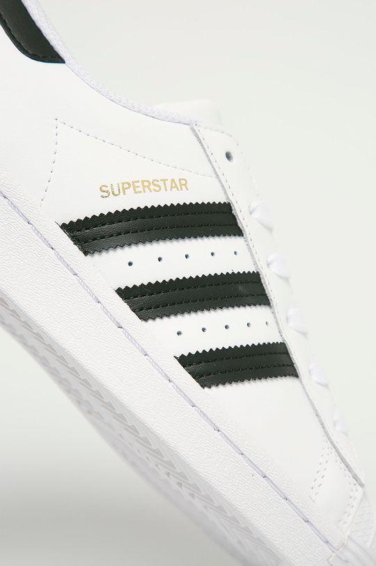 adidas Originals - Kožené boty Superstar bílá
