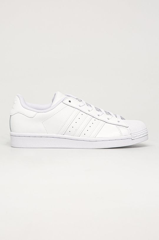 bílá adidas Originals - Kožené boty Superstar Dámský