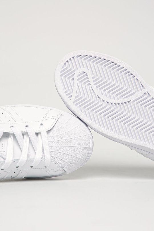 bílá adidas Originals - Kožené boty Superstar