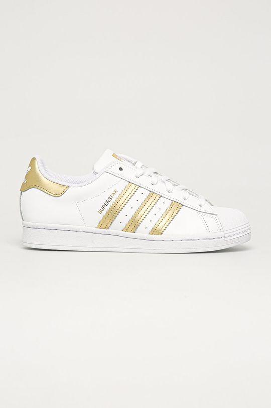 alb adidas Originals - Pantofi Superstar De femei