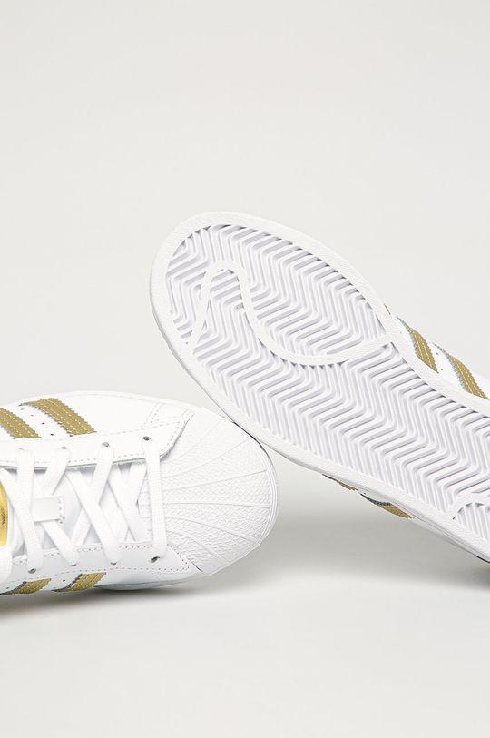 alb adidas Originals - Pantofi Superstar