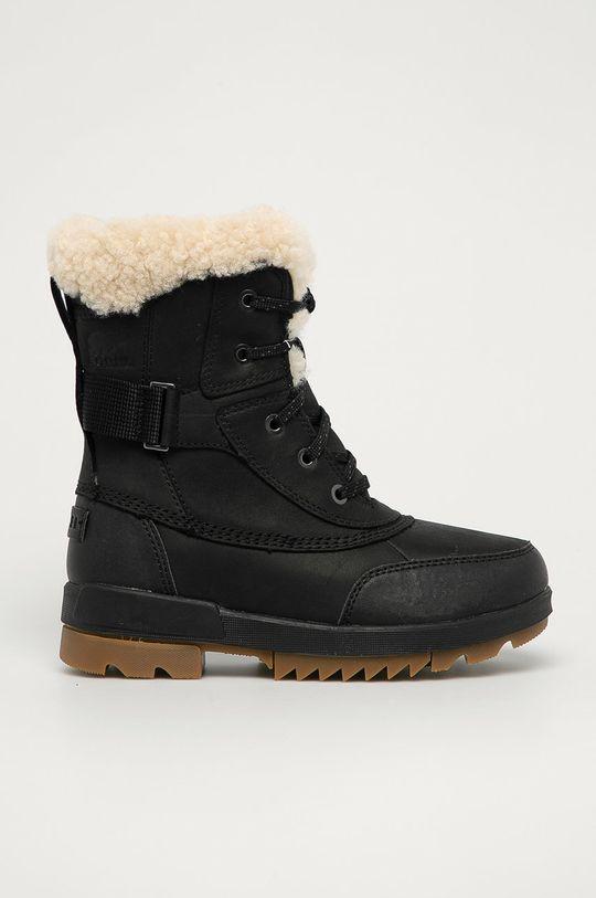 negru Sorel - Bocanci de piele Torino II Parc Boot De femei