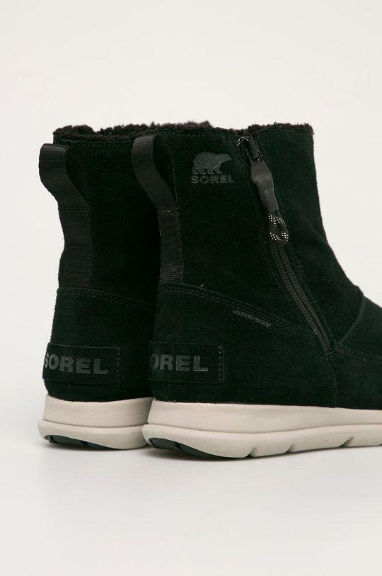 Sorel - Semišové boty Explorer Zip  Svršek: Přírodní kůže Vnitřek: Textilní materiál Podrážka: Umělá hmota