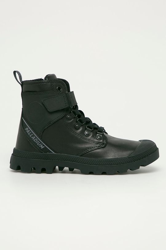 černá Palladium - Kožené boty Dámský